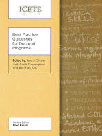 Best Practice Guidelines for Doctoral Programs
