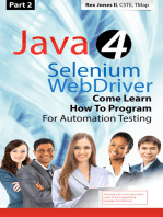 (Part 2) Java 4 Selenium WebDriver