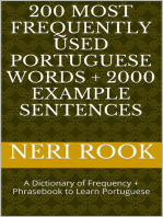 200 Most Frequently Used Portuguese Words + 2000 Example Sentences