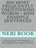 200 Most Frequently Used Finnish Words + 2000 Example Sentences