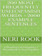 200 Most Frequently Used Spanish Words + 2000 Example Sentences