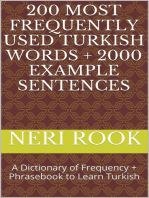 200 Most Frequently Used Turkish Words + 2000 Example Sentences