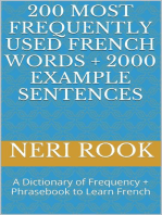 200 Most Frequently Used French Words + 2000 Example Sentences