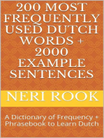 200 Most Frequently Used Dutch Words + 2000 Example Sentences
