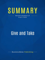 Give and Take (Review and Analysis of Grant's Book)
