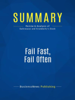 Fail Fast, Fail Often (Review and Analysis of Babineaux and Krumboltz's Book)