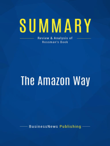 The Amazon Way (Review and Analysis of Rossman's Book)