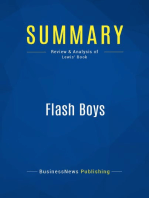 Flash Boys (Review and Analysis of Lewis' Book)