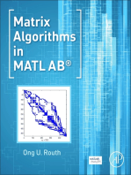 Matrix Algorithms in MATLAB