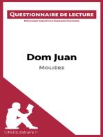 Dom Juan de Molière (Questionnaire de lecture)