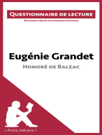 Eugénie Grandet d'Honoré de Balzac (Questionnaire de lecture)