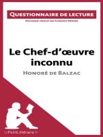 Le Chef-d'œuvre inconnu d'Honoré de Balzac (Questionnaire de lecture)