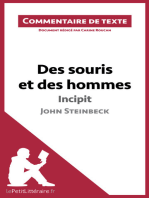Des souris et des hommes de Steinbeck - Incipit