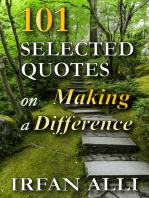 101 Selected Quotes on Making a Difference