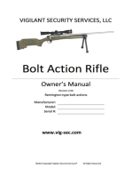 Bolt Action Rifle Owner's Manual