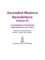 Ascended Masters Newsletters, Vol. III