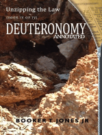 Unzipping the Law Deuteronomy Annotated