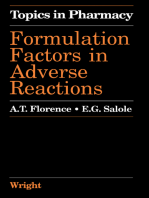 Formulation Factors in Adverse Reactions: Topics in Pharmacy