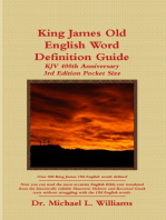 King James Old English Word Definition Guide
