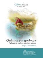 Química para geología: Aplicación en laboratorio y campo