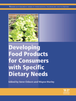 Developing Food Products for Consumers with Specific Dietary Needs