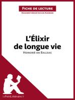L'Élixir de longue vie d'Honoré de Balzac (Fiche de lecture)