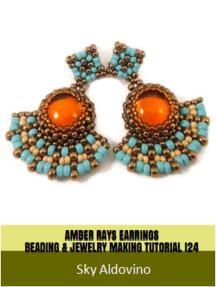 Amber Rays Earrings Beading & Jewelry Making Tutorial
