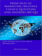 Marketing Principles MCQs: Multiple Choice Questions and Answers (Quiz & Tests with Answer Keys)