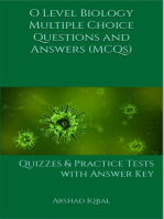 O Level Biology Multiple Choice Questions and Answers (MCQs)