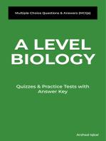 A Level Biology MCQs
