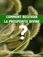 Comment Recevoir La Prosperite Divine