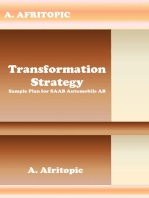 Transformation Strategy. Sample Plan for SAAB Automobile AB