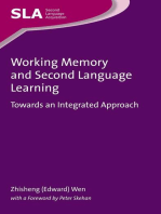 Working Memory and Second Language Learning: Towards an Integrated Approach