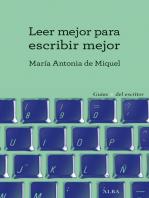 Leer mejor para escribir mejor