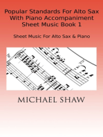 Popular Standards For Alto Sax With Piano Accompaniment Sheet Music Book 1