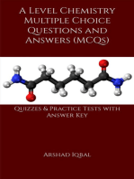 A Level Chemistry MCQs: Multiple Choice Questions and Answers (Quiz & Tests with Answer Keys)