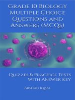 Grade 10 Biology Multiple Choice Questions and Answers (MCQs)