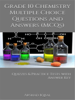 10th Grade Chemistry MCQs