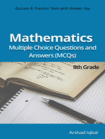 8th Grade Math Multiple Choice Questions and Answers (MCQs): Quizzes & Practice Tests with Answer Key (Grade 8 Math Worksheets & Quick Study Guide)