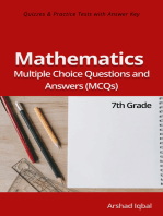 7th Grade Math MCQs: Multiple Choice Questions and Answers (Quiz & Tests with Answer Keys)