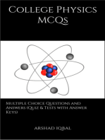 College Physics MCQs