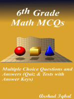 6th Grade Math MCQs