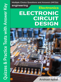 Electronic Circuit Design Multiple Choice Questions and Answers (MCQs): Quizzes & Practice Tests with Answer Key (Electronic Circuit Design Quick Study Guide & Course Review)