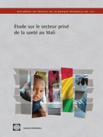 Étude sur le secteur privé de la santé au Mali: La situation après l'Initiative de Bamako