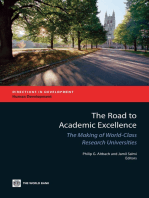 The Road to Academic Excellence: The Making of World-Class Research Universities
