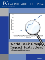World Bank Group Impact Evaluations: Relevance and Effectiveness