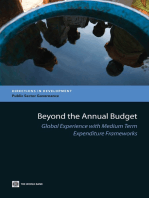Beyond the Annual Budget: Global Experience with Medium Term Expenditure Frameworks