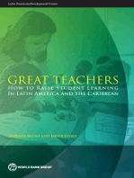 Great Teachers: How to Raise Student Learning in Latin America and the Caribbean