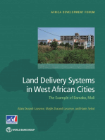 Land Delivery Systems in West African Cities: The Example of Bamako, Mali