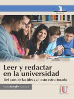 Leer y redactaren la universidad: Del caos de las ideas al texto estructurado